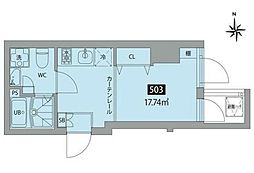 JR総武線 秋葉原駅 徒歩6分の賃貸マンション 5階ワンルームの間取り