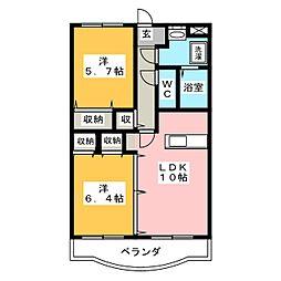 Y&M SOCIE[2階]の間取り