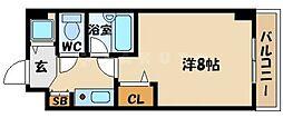 ジョイフル京橋 3階1Kの間取り