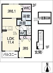 ラピスラズリ[2階]の間取り