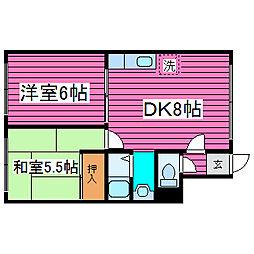 北海道札幌市東区東苗穂十三条4丁目の賃貸アパートの間取り