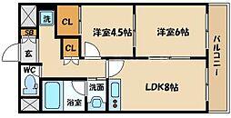 大橋マンション5番館[2階]の間取り