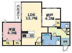 (仮称)東大阪市シャーメゾン上小阪3丁目[302号室号室]の間取り