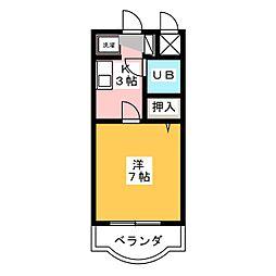 シャルムN[3階]の間取り