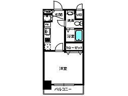 アソシアグロッツォ博多セントラルタワー[11階]の間取り