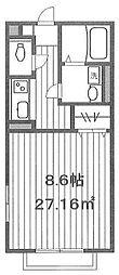 AMOUR TOKI[2階]の間取り