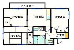 コート・ボナール[2階]の間取り