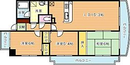 ハイツ高松II[4階]の間取り