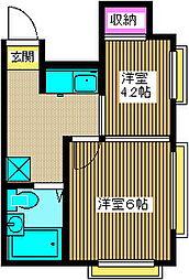コーポアキラ[2階]の間取り