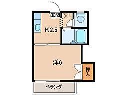 フォーブル安井I[2階]の間取り