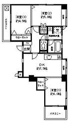 アドバンス港北NT[2階]の間取り