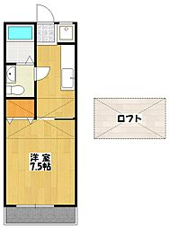 千葉県船橋市本中山4丁目の賃貸アパートの間取り