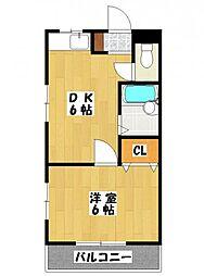 レターマンション[3階]の間取り
