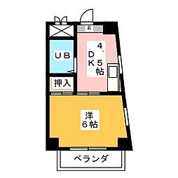 桂山松西ハイツI[2階]の間取り