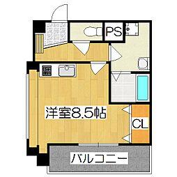 東山祇園ビル[506号室]の間取り