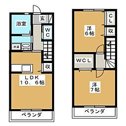 M&M 1号館[1階]の間取り