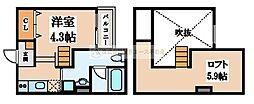 Attic堺(アティック堺)[2階]の間取り