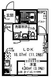 RadIAnce新松戸[302号室号室]の間取り