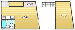 東京都大田区東馬込2丁目の賃貸アパートの間取り