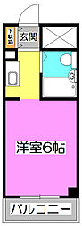 カレッジハイツ朝霞I[2階]の間取り