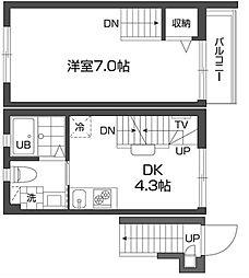 グランアセット西新宿[207号室号室]の間取り