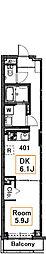 Lupinus  Court SUMIYOSHI[4階]の間取り