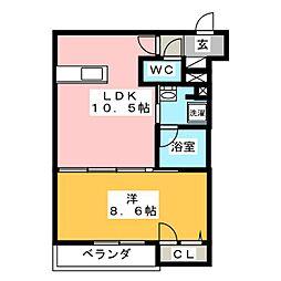 (仮)寒川町小谷1丁目シャーメゾン 3階1LDKの間取り