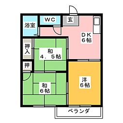 タウニーシマダ[2階]の間取り