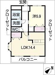 JOY RUMAYU II[2階]の間取り