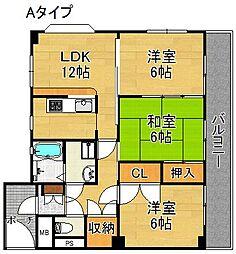 コージーハイツ恵門[1階]の間取り