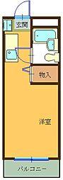 ハイツ東山A[405号室]の間取り