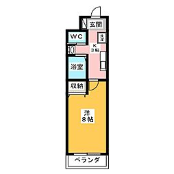 A−city港本宮[3階]の間取り