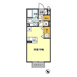セジュールコト B[2階]の間取り