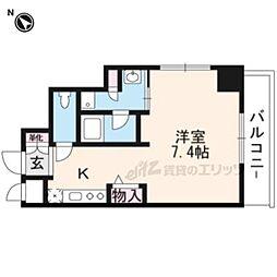 阪急京都本線 南茨木駅 徒歩1分の賃貸マンション 7階ワンルームの間取り