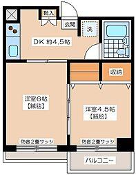 ロートス経堂[2階]の間取り