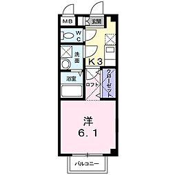 エスポワール鳴水[2階]の間取り