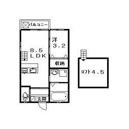 煉瓦の家SAKURAI[205号室]の間取り