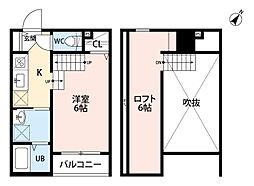 Grand room博多[2階]の間取り