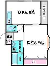 ラフォーレ千林II[4階]の間取り
