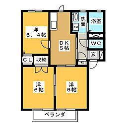 ホワイトフォーレス A[1階]の間取り