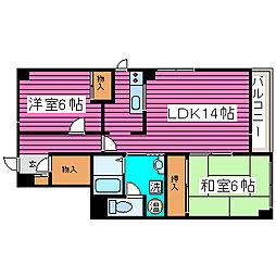 マンション天方39[4階]の間取り