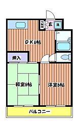 東京都日野市多摩平1丁目の賃貸マンションの間取り