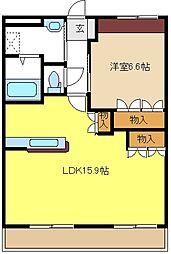 愛知県名古屋市緑区桶狭間森前の賃貸アパートの間取り