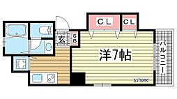 兵庫県神戸市東灘区御影塚町2丁目の賃貸マンションの間取り