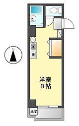 愛知県名古屋市中村区砂田町1の賃貸マンションの間取り