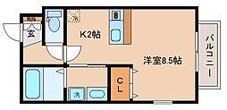 兵庫県神戸市兵庫区松原通3丁目の賃貸アパートの間取り