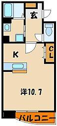プラシード・和坂[1階]の間取り