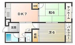 シティライフ佐太[4階]の間取り