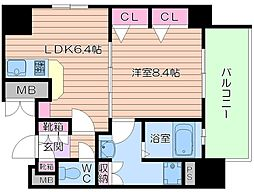レジェンドール大阪天満 G-レジデンス[14階]の間取り