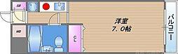メゾン・ド・シャルジェ 2階1Kの間取り